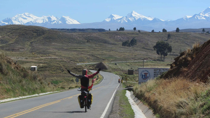 Entering Bolivia with this awesome view.