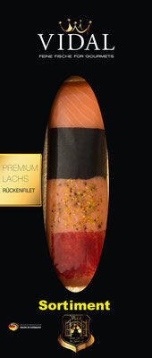 Vidal Lachs Rückenfilet Sortiment 200 g