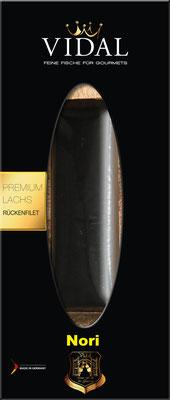 Vidal Lachs Rückenfilet Nori-Blatt