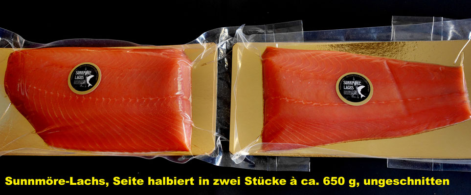 Sunnmöre-Räucherlachs, zwei Stücke à ca. 650 g, ungeschnitten