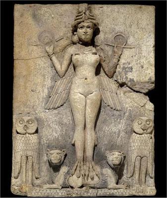 INANNA. Relieve en piedra de la Gran Diosa Sumeria (4.500 años)