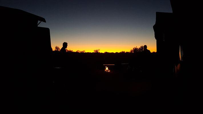 ...und anschliessend ein wunderschöner Sonnenuntergang.