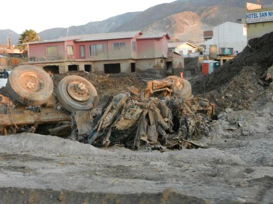 Die Unwetterschäden im Norden von Chile sind deutlich sichtbar