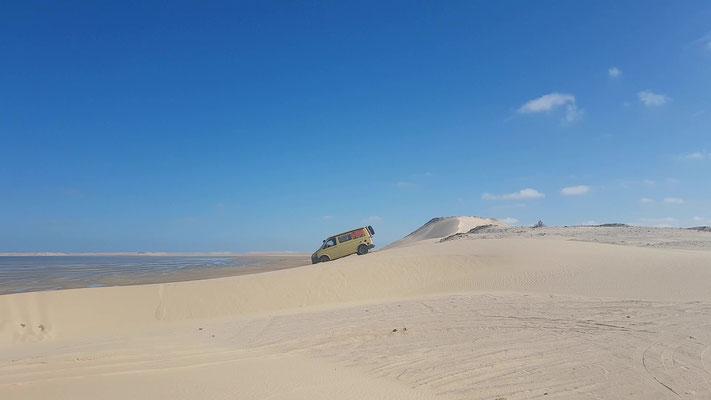 ...mit anschliessendem 'Offraod-Training' im Sand...