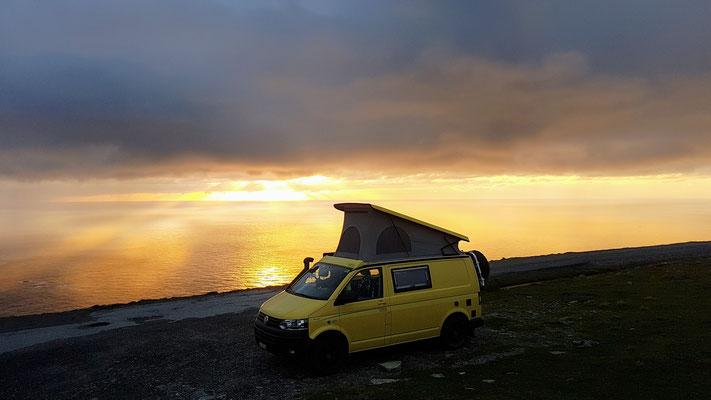 Wunderschöner Sonnenuntergang beim Westkap