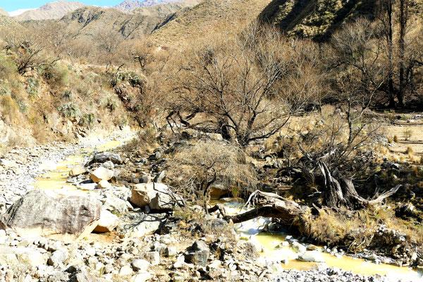 Die Quebrada de las Aguas Negras...