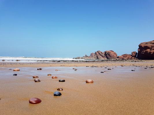 Der einsame Strand von Leghzira...