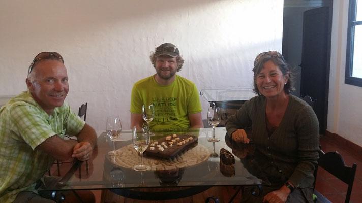 Weindegustation mit Iris und Stefan in Cafayate
