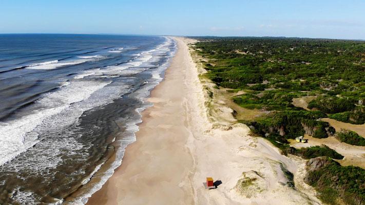 ...an einem wunderschönen einsamen Strand in La Esmeralda.