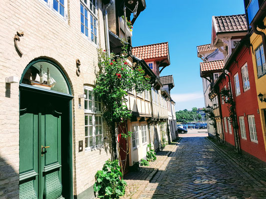 schöne Gassen in Flensburg