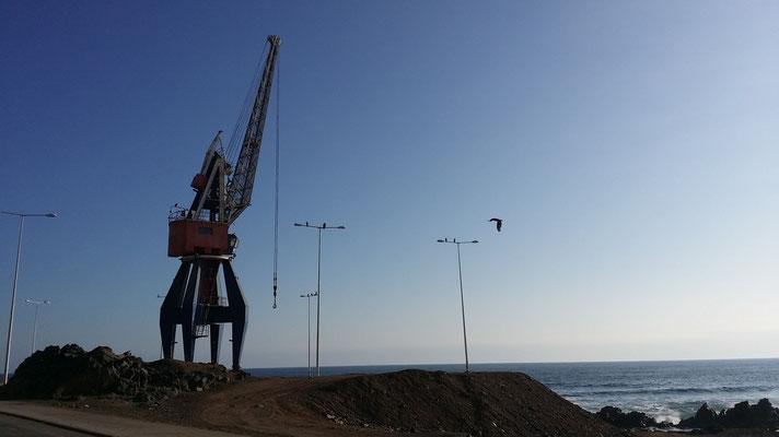 Der Zürcher Hafenkran wieder in Antofagasta