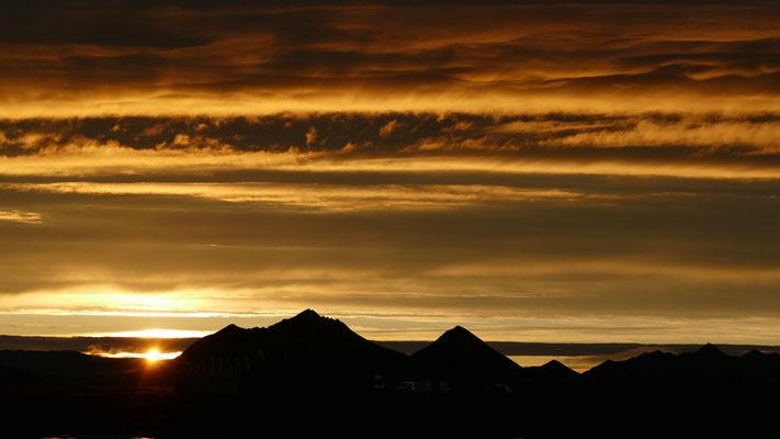 Mitternachtssonne in Island