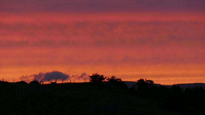 ...am Abend vor der Abreise. Herrlicher Sonnenuntergang...