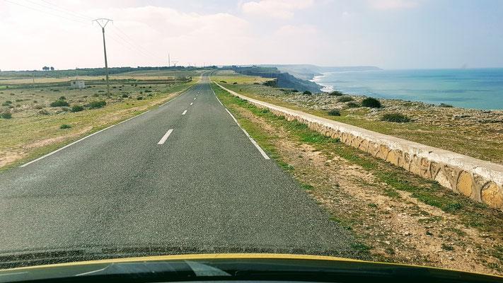 Auf der Küstenstrasse zwischen Oualidia und Safi