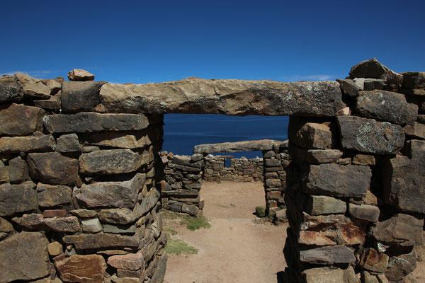 Inka Ruinen auf Isla del Sol