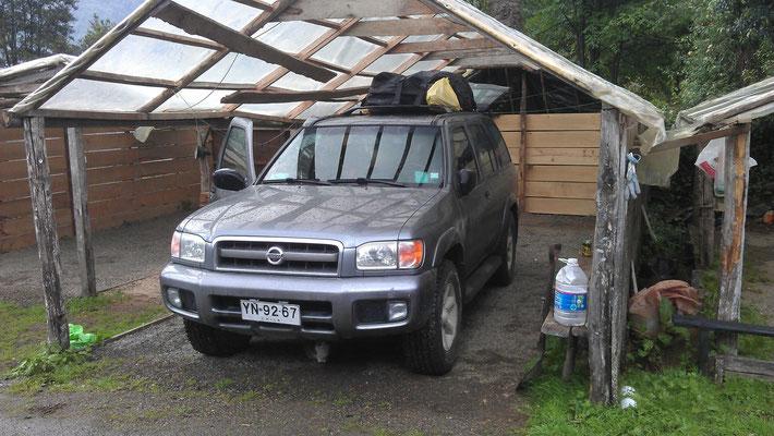 Camping-Garage wenn's mal regnet. La Junta - Carretera Austral.
