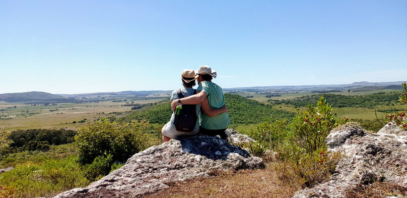 Wir haben den Aufstieg auf den Cerro Arequita (305 M.ü.M.) geschafft...