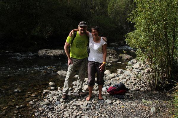 Toni & Pit auf einer aussergewöhnlichen Wanderung (da wussten sie noch nichts davon...)