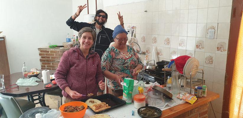 Lunch-Zubereitung bei Norma