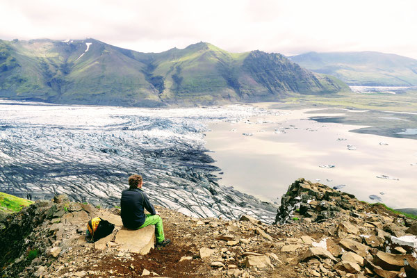 Herrlicher Blick auf den Vatnajökull