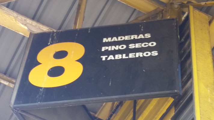 Was heisst Holz auf Spanisch? Ah... Madera.