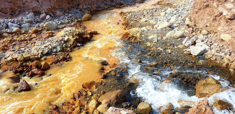 Hier trifft der Rio Amarillo auf den Rio Aguas Negra