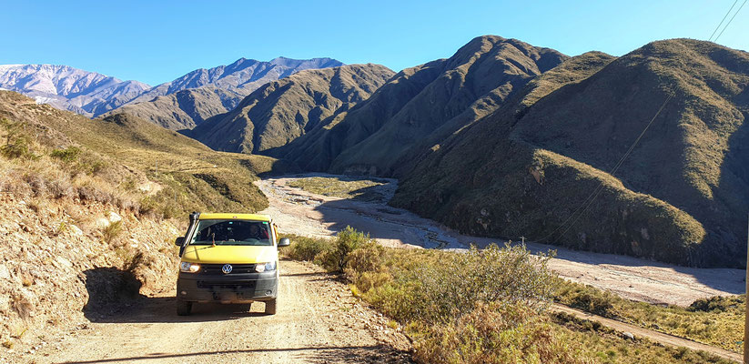 Ausflügli zur Mina del Oro, der Weg führt hinter unserem Hause den Berg hinauf