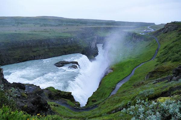 Gullfoss, der wohl berümhteste Wasserfall Islands