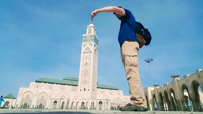 Hm, so gross ist die grösste Moschee von Marokko gar nicht?