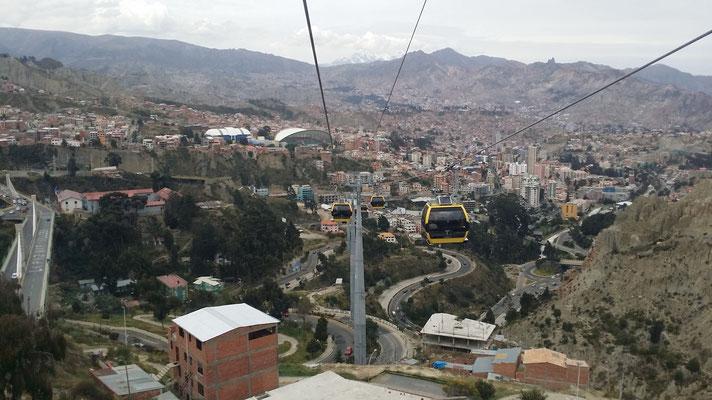 Die neuen 10er Gondeln in La Paz