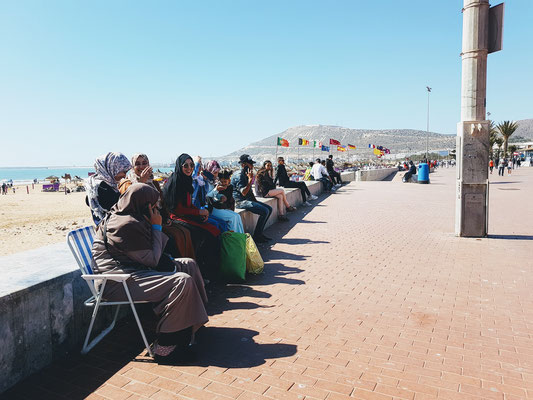 Die Strandpromenade von Agadir