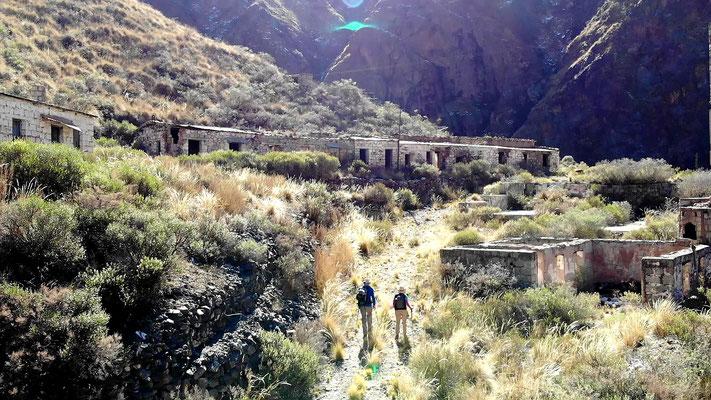 ...bis wir die Mina del Oro erreichen.