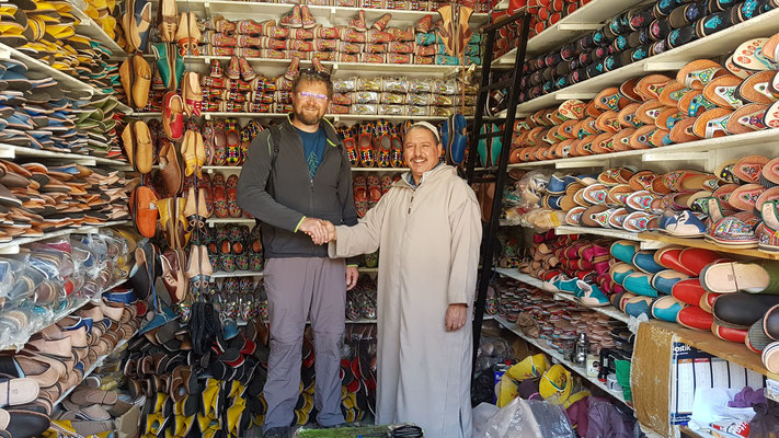 Neue Schuhe gefällig? Leider hatten sie die passende Grösse nicht. Aber der Besuch war trotzdem nett.