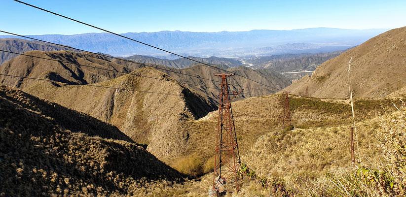 Oben angekommen: herrlicher Aussicht nach Chilecito