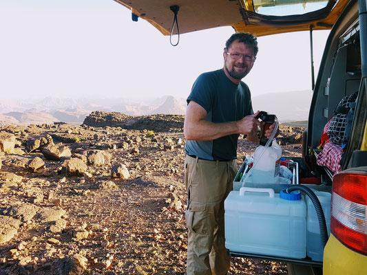 Wasseraufbereitung in Marokko. Sauber muss es sein...