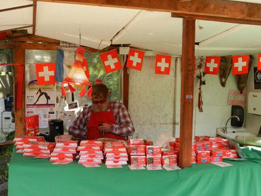 En richtige Innerschwiizer: gesehen in der Colonia Suiza bei Bariloche (war das Einzige was noch an die Schweiz erinnert...)