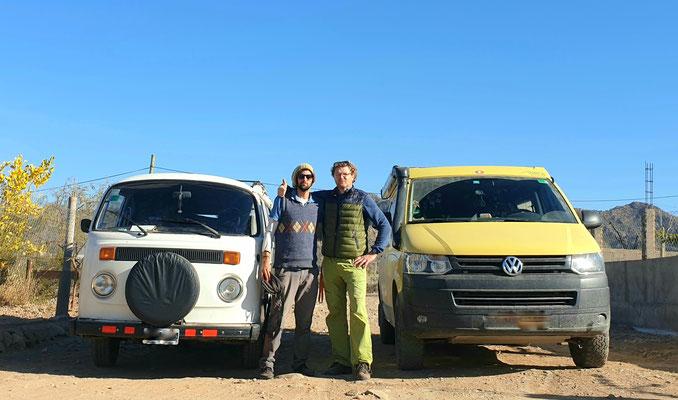 Piccolo, unterwegs mit seinem Opa . Mati mit seinem VW T1.6