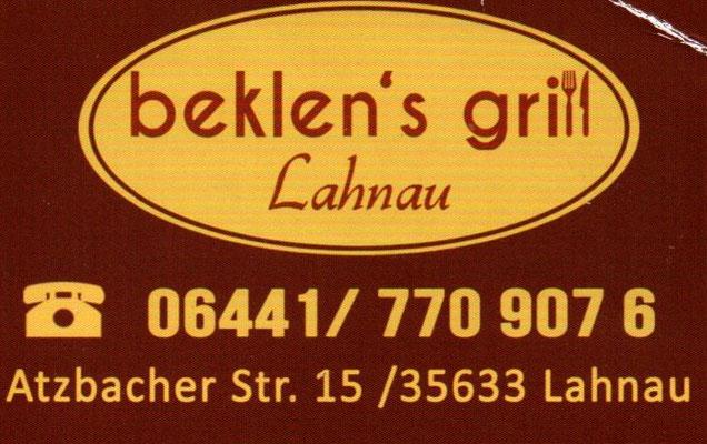 GEMA-Pate Beklen's Grill in Lahnau