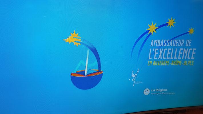 Numerisation et presentation Novamotion. Creation et réalisation Hervé Arnoul  du trophée AURA pour le conseil Régionale Auvergne Rhone Alpes.