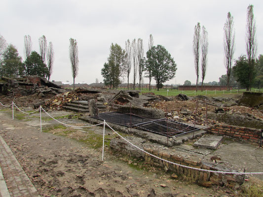Die gesprengten Krematorien