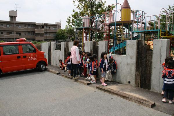 以前の駐車場の塀