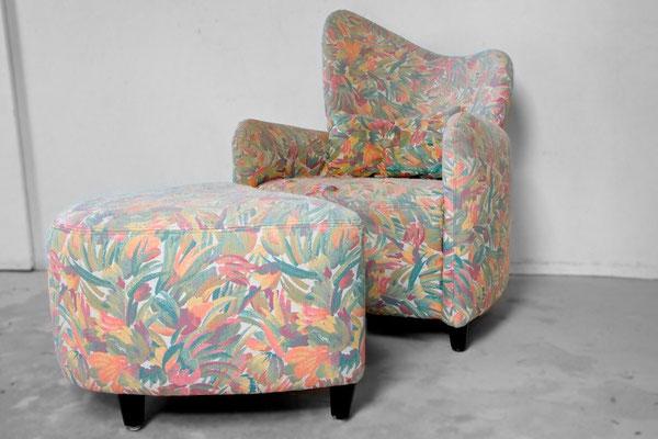 Ein einzelner Sessel eignet sich fast immer, um neue Farbkontraste setzen zu können