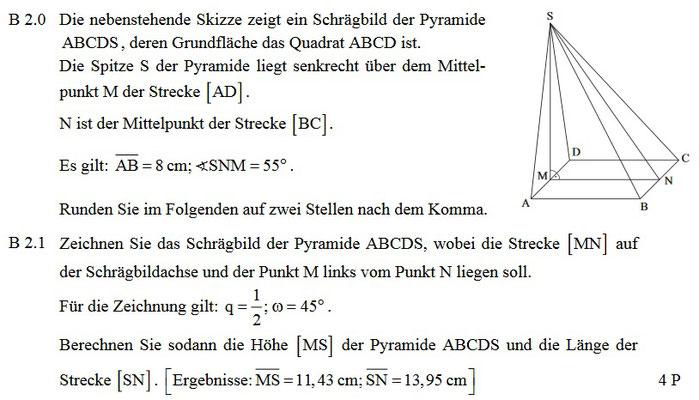 Schragbild Einer Pyramide Zeichnen Schulaufgaben Mathe
