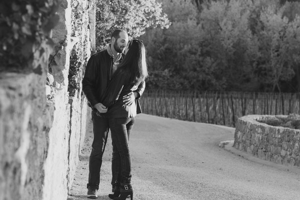 Photographe studio provence couple engagement mariage var