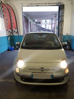 Remplacement câbles frein à main + filtre à carburant - Fiat 500