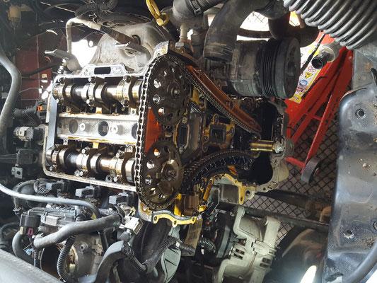 Remplacement chaîne distribution + boîte de vitesse / kit embrayage - Opel Corsa