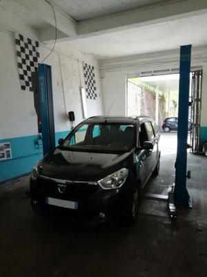 """Entretien annuel + achat de deux pneus été """"HANKOOK"""" + remplacement disques/plaquettes avant - Dacia Lodgy"""