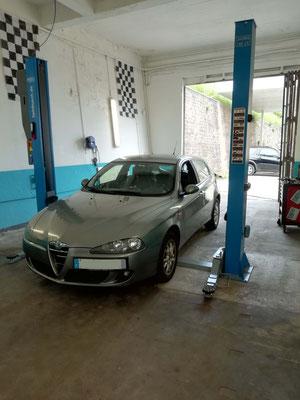 Remplacement roulement moyeu + entretien - Alfa Roméo 147