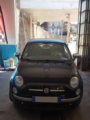 Pneus achetés au garage Drive Auto + remplacement moyeu roulement - Fiat 500