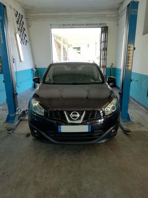 Entretien vidange filtre à huile/air/habitacle/carburant + remplacement push hayon - Nissan Qashqaï